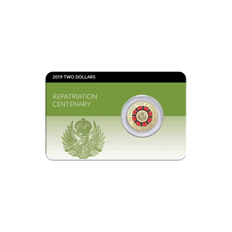 2019 $2 Bringing Them Home - A Hundred Years of Repatriation Al/Br Coloured Coin in Pack