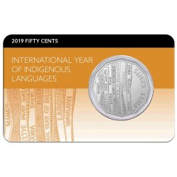2019 50c International Year of Indigenous Languages Frosted Uncirculated Coin in Pack