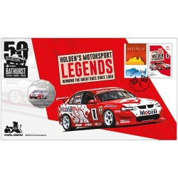 2018 50c Holden 2001 VX Commodore Coin & Stamp Cover PNC