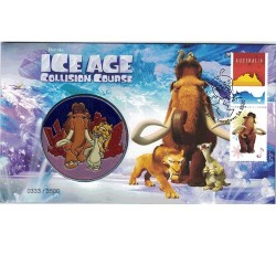 2016 Ice Age Collision Course Limited Edition Medallion Cover PNC