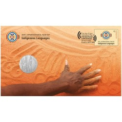 2019 50c International Year of Indigenous Languages Coin & Stamp Cover PNC