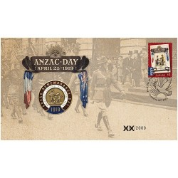 2019 ANZAC Day Limited Edition Medallion & Stamp Cover PNC