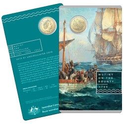 2019 $1 Mutiny on the Bounty Al/Br Uncirculated Coin in Card