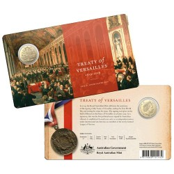 2019 $1 Centenary of the Treaty of Versailles Al/Br Uncirculated Coin in Card
