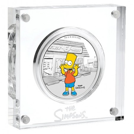 2019 $1 The Simpsons - Bart Simpson 1oz Silver Proof Coin