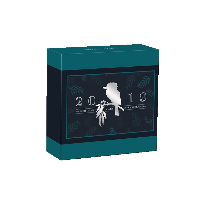 2019 $8 Australian Kookaburra 5oz High Relief Silver Proof Coin