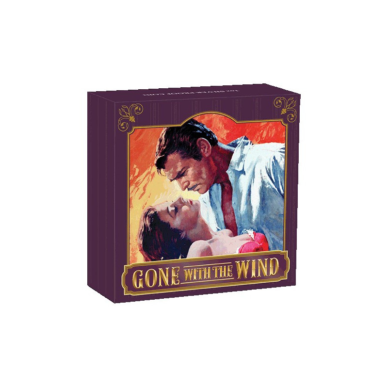 2019 $1 Gone with the Wind 80th Anniversary 1oz Silver Proof Coin