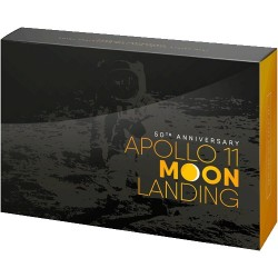 2019 Apollo 11 Moon Landing Two Coin Proof Set - USA & Australia