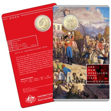 2019 $1 Mutiny and the Rebellion - The Rum Rebellion Al/Br Uncirculated Coin in Card