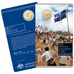 2019 $1 Mutiny and the Rebellion - The Eureka Stockade Al/Br Uncirculated Coin in Card