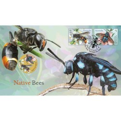 2019 $1 Native Bees Coin & Stamp Cover PNC