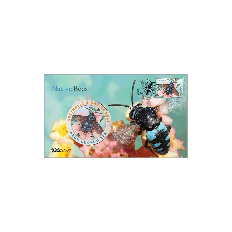 2019 Native Bees Medallion & Stamp Cover PNC