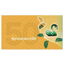 2017 $50  Next Generation Polymer Uncirculated Banknote