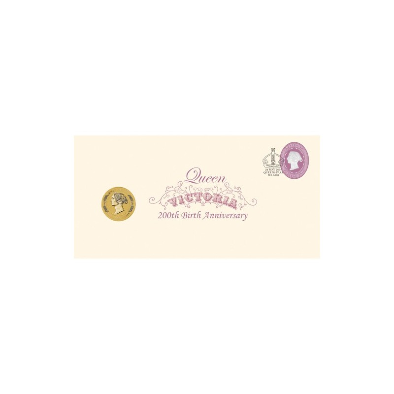 2019 $1 Queen Victoria 200th Anniversary Coin & Stamp Cover PNC