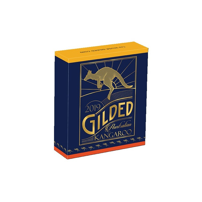2019 $1 Australian Kangaroo 1oz Silver Gilded Edition