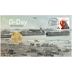 2019 $1 D-Day 75th Anniversary Coin & Stamp Cover PNC