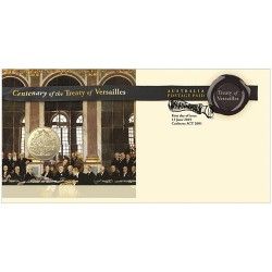 2019 $1 Centenary of the Treaty of Versailles Coin & Stamp Cover PNC