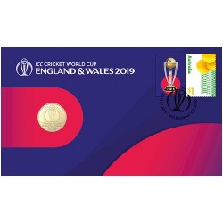 2019 $1 ICC Cricket World Cup Coin & Stamp Cover PNC