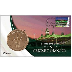 2019 Sports Stadiums Sydney Cricket Ground Medallion & Stamp Cover PNC