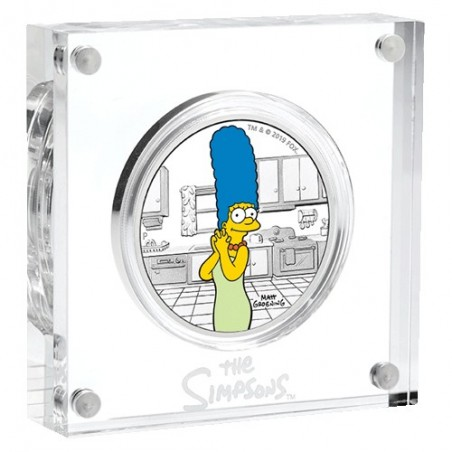 2019 $1 The Simpsons - Marge Simpson 1oz Silver Proof Coin