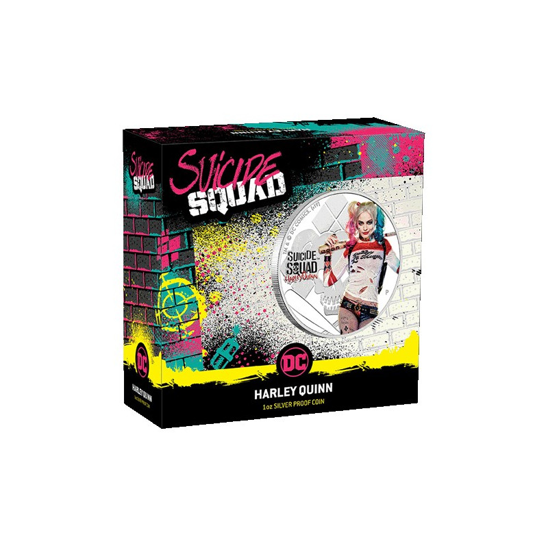2019 $1 Suicide Squad - Harley Quinn 1oz Silver Proof Coin