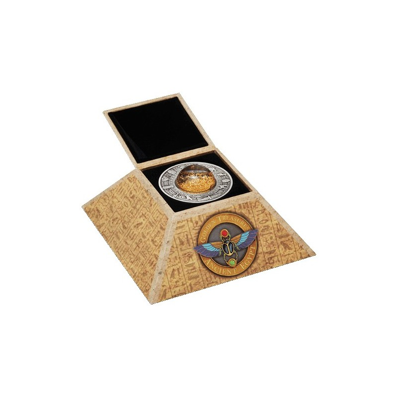 2019 $2 Gold Treasures of Ancient Egypt 2oz  Silver Antiqued Coin