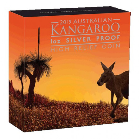 2019 $1 Australian Kangaroo 1oz Silver Proof High Relief Coin