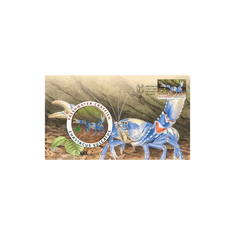 2019 Freshwater Crayfish Medallion & Stamp Cover PNC