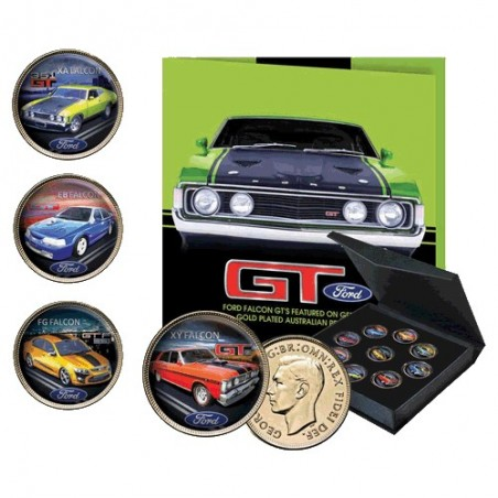 Ford Falcon GT's Gold Plated Enamel Penny Collection