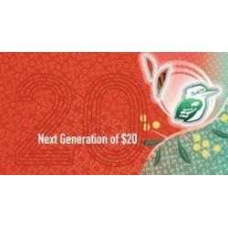 2019 $20 RBA Folder Next Generation Unc Banknote