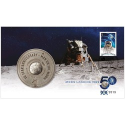 2019 First Moon Walk Medallion & Stamp Cover PNC