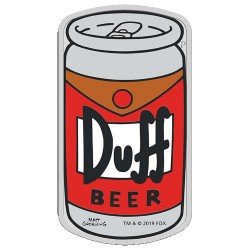 2019 $1 The Simpsons - Duff Beer 1oz Silver Coin