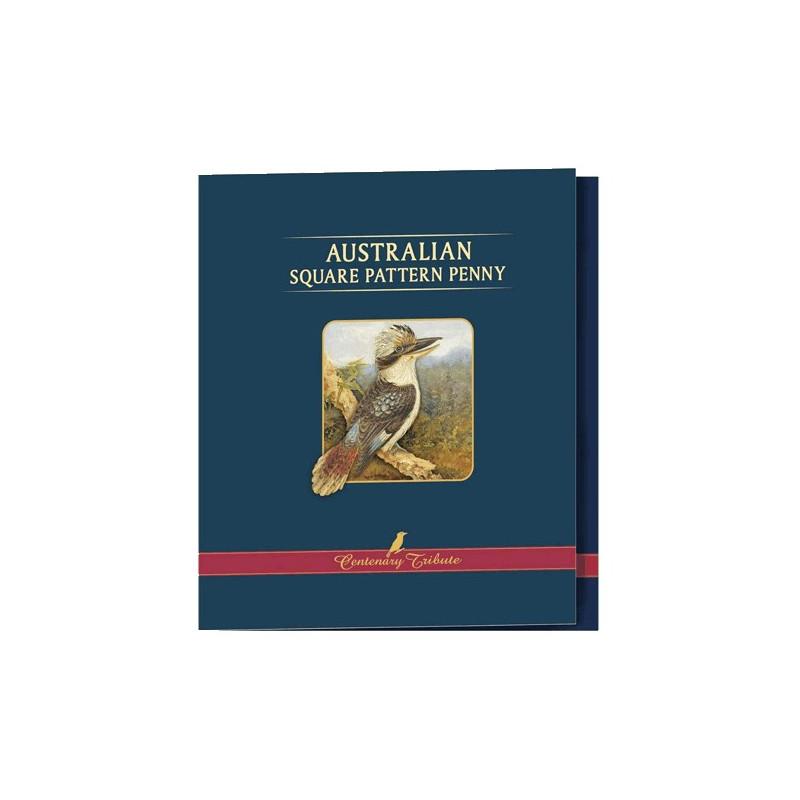 Australian Square Pattern Penny Centenary Tribute Portfolio Coin