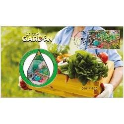2019 In The Garden Medallion & Stamp Cover PNC