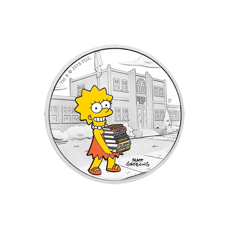 2019 $1 The Simpsons - Lisa Simpson 1oz Silver Proof Coin