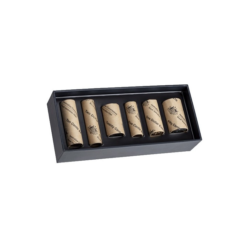 2019 Jody Clark Effigy Rolled Coin Boxed Set - 6 Mint Rolls