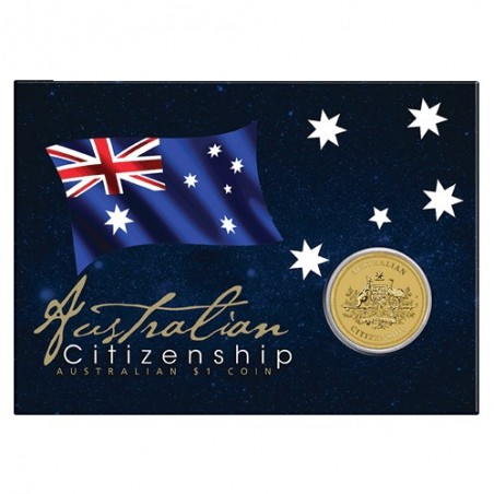 2020 $1 Australian Citizenship Uncirculated Coin in Card