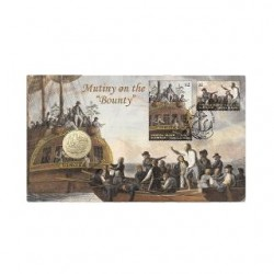 2019 $1 Mutiny on the Bounty Coin & Stamp Cover PNC