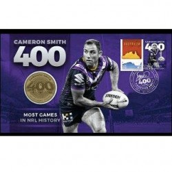 2019 Cameron Smith 400 Games Medallion & Stamp Cover PNC
