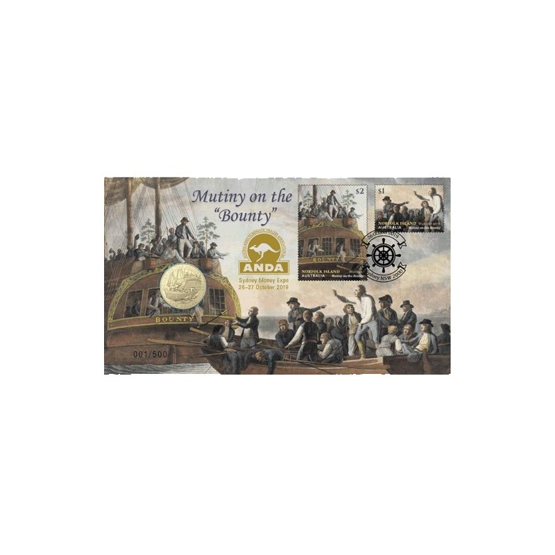Mutiny On The Bounty in Mint Card Australia 2019 $1 Mutiny and the Rebellion