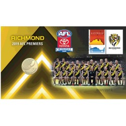 2019 $1 AFL Richmond Tigers Premiers Coin & Stamp Cover PNC