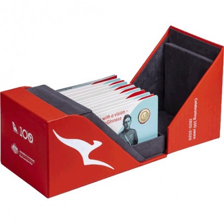2020 $1 Qantas Centenary 11 Coin Al/Br Proof Set in Collectors Case