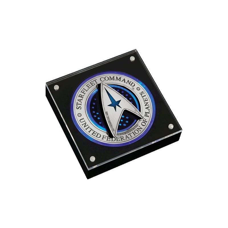 2019 $2 Starfleet Command Emblem - 3oz Silver Holey Dollar & Delta Coin Set