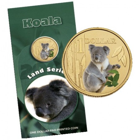 2008 $1 Land Series - Koala Uncirculated Coin in Card