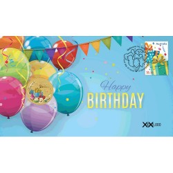 2020 $1 Happy Birthday Coin & Stamp Cover PNC