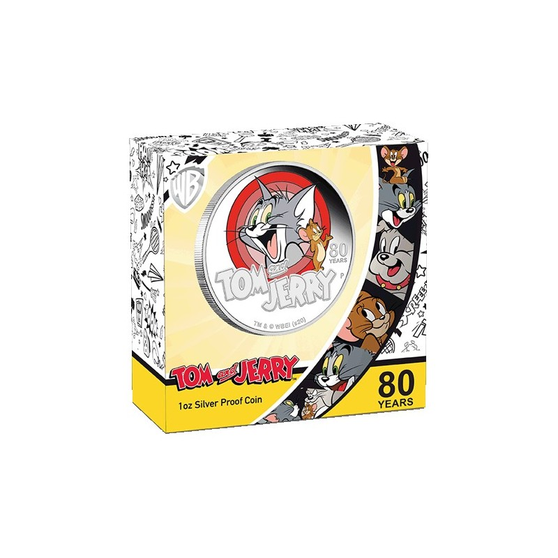 2020 $1 Tom & Jerry 80th Anniversary Silver Proof 1oz Coin