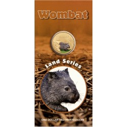 2008 $1 Land Series - Wombat Uncirculated Coin in Card