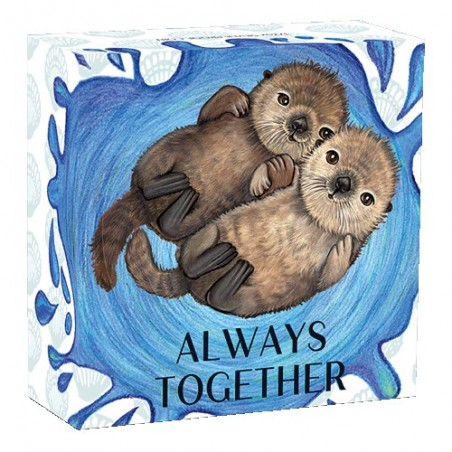 2020 50c Always Together  - Sea Otters 1/2oz Silver Proof Coin