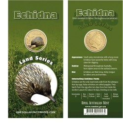 2008 $1 Land Series Echidna Uncirculated Coin in Card