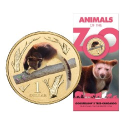 2012 $1 Animals of the Zoo - Goodflellows Tree Kangaroo Uncirculated Coin in Card
